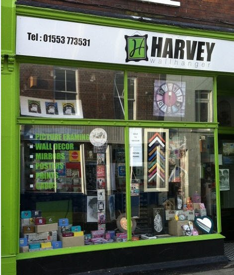 harvey wall hanger shop front