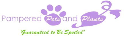 Pampered Pets and Plants logo