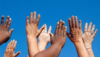 praising hands