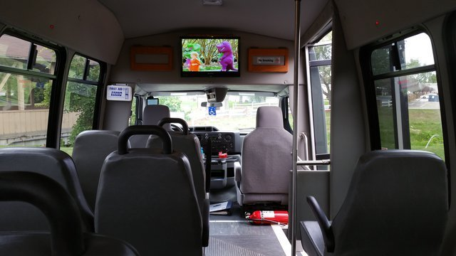 Inside One Of The Wheelchair Accessible Buses