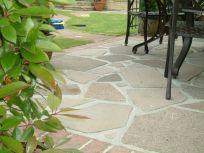 Paved patio
