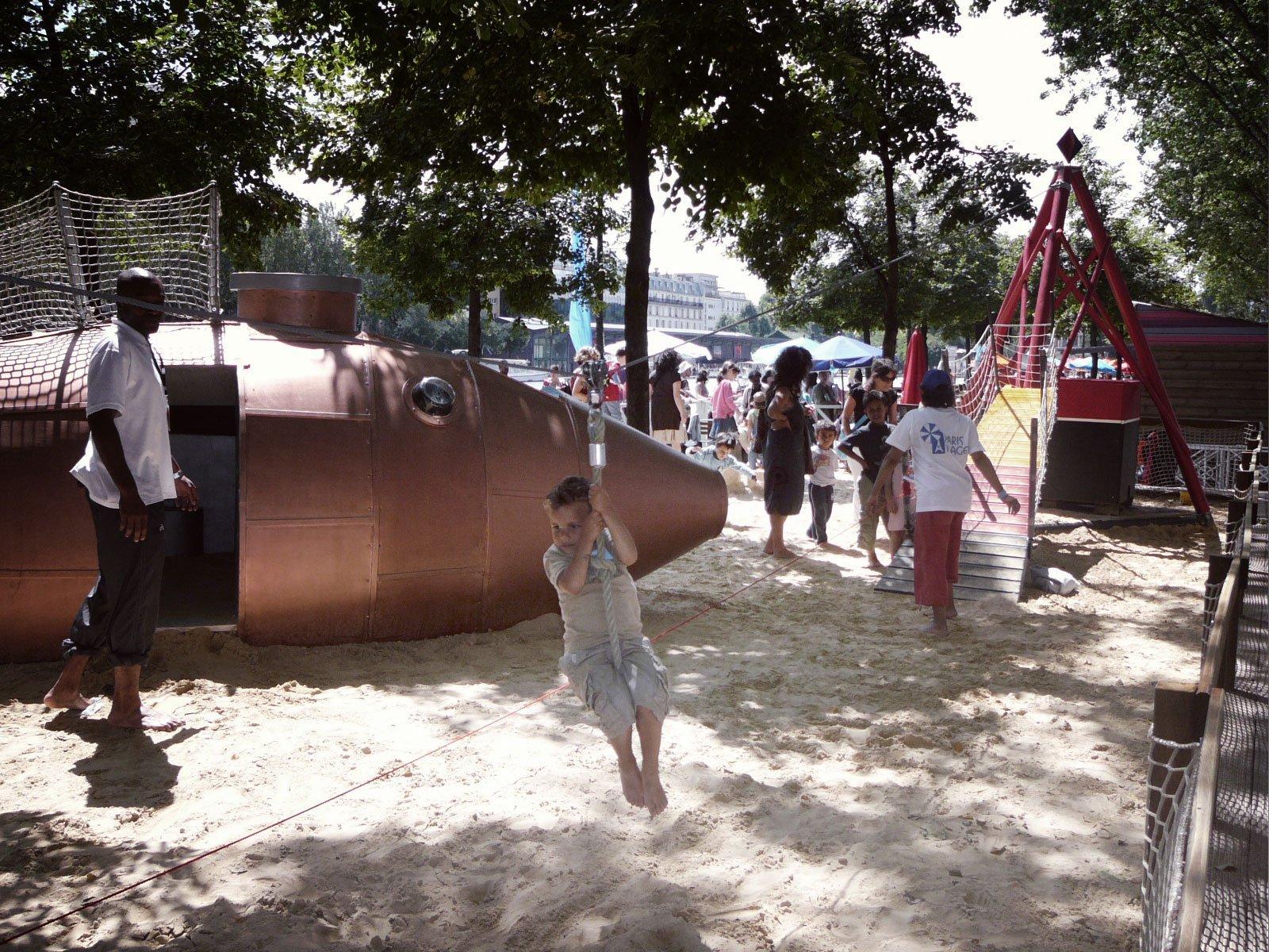 Paris plage jeux enfant