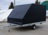 Enclosure installed on a 12' snowmobile/ATV trailer