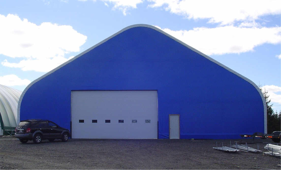Picture of the outside of our 72' x 160' Gothic style welding shop