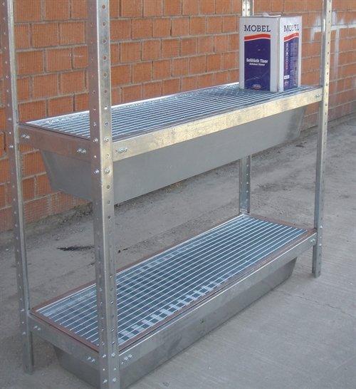 Sump tray shelves