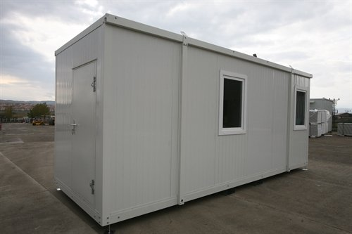 20' portable office container erected