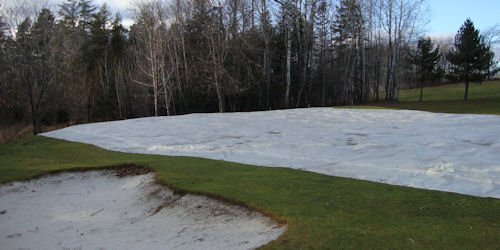 72' x 96' water proof ice shield cover in 16 mil from Cover-Tech Inc.