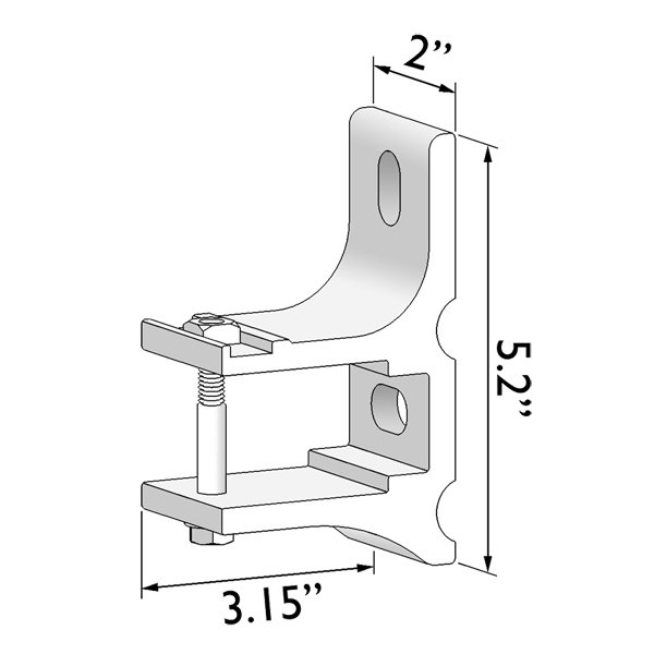 TILT-O-SHADE™ Standard Wall Bracket