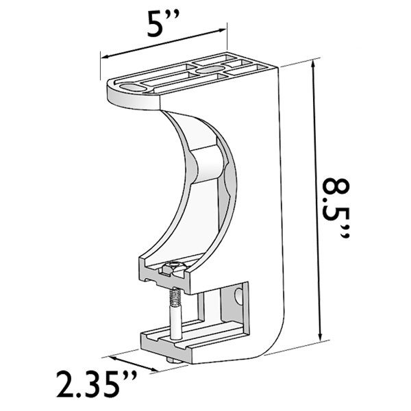 TILT-O-SHADE™ 3-hole Universal Bracket