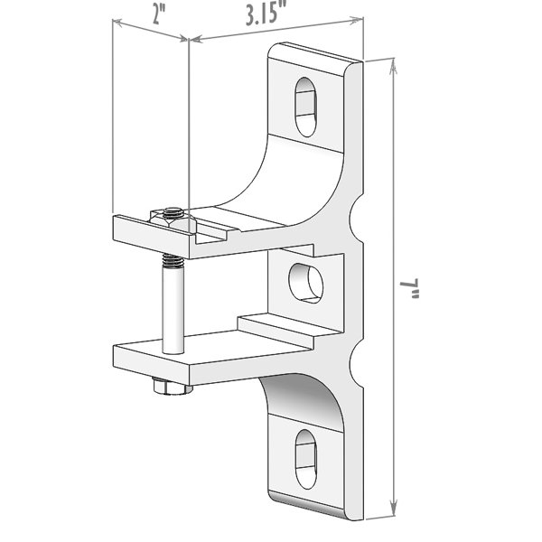 TILT-O-SHADE™ 3-hole Wall Bracket