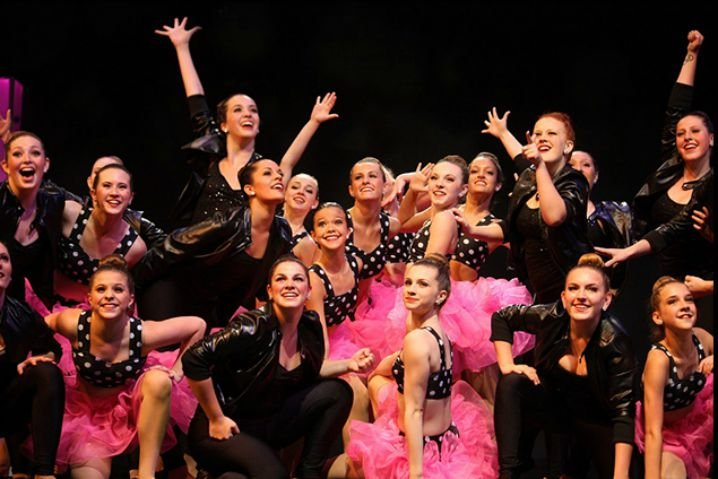 Dancers posing on stage