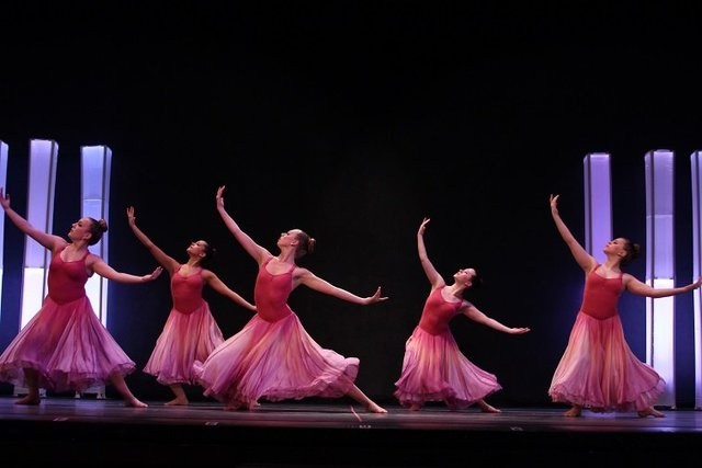 Five Graceful Dancers in Motion