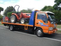 Truck completing vehicle towing in Napier