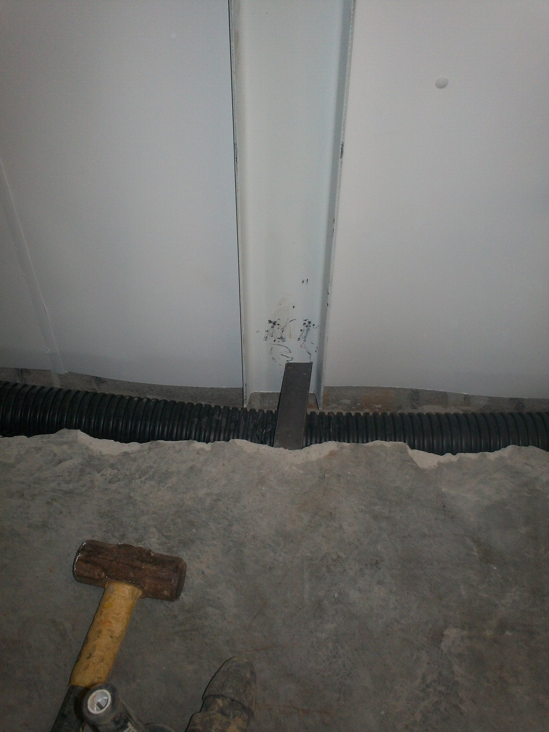 floor line drainage system