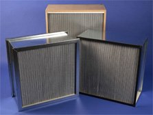HEPA and 95% DOP Panel Filters