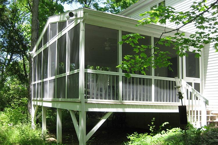 screened in porch construction oxford ohio