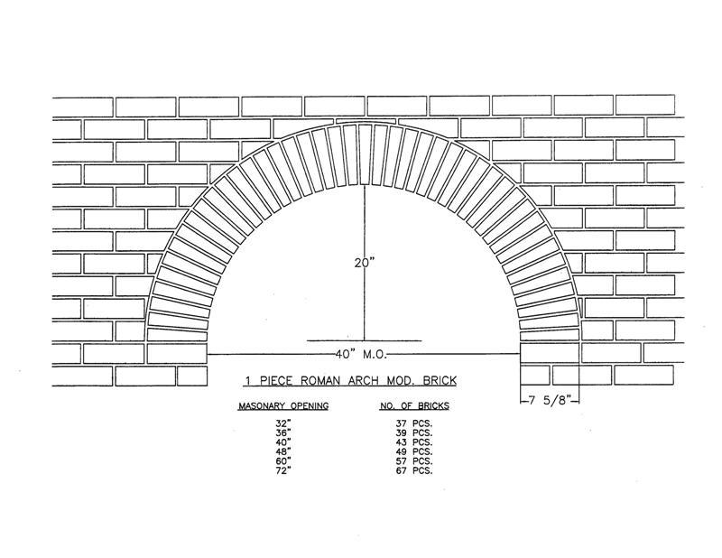 1 Piece Roman Arch Mod. Brick