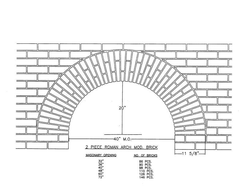 2 Piece Roman Arch Mod. Brick