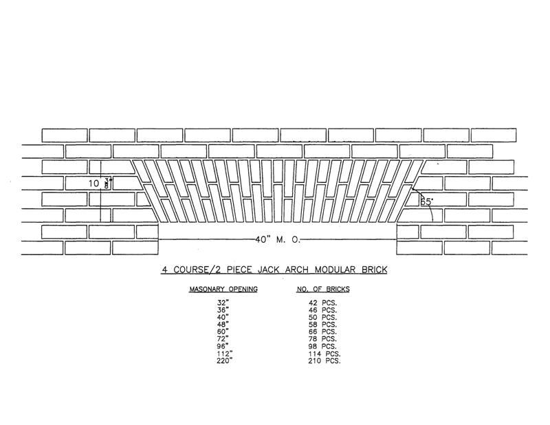 4 Course/2 Piece Jack  Arch Modular Brick