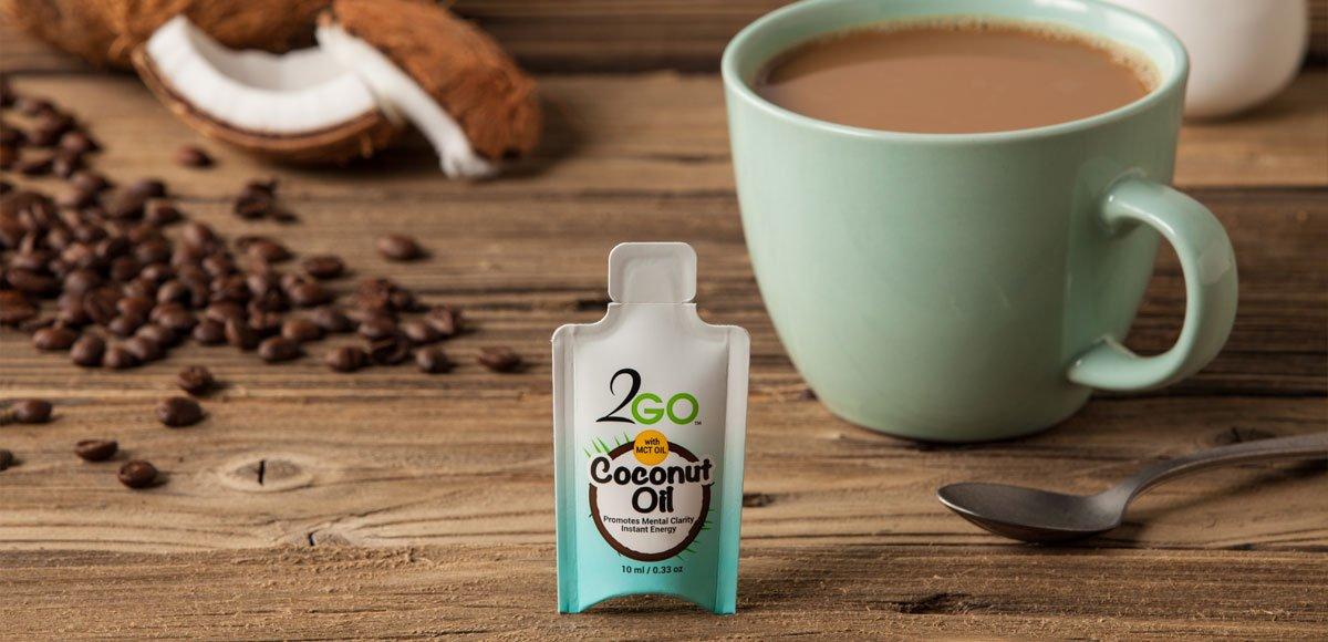 2GO Coconut Oil Single Serve Organic Virgin Coconut Oil