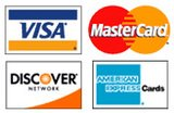 Accepting: Visa, MasterCard, Discover & American Express