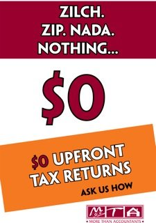 no upfront fees for all tax returns