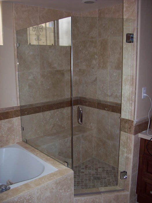 Image of Frameless Glass Shower Enclosure