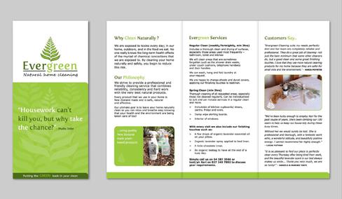 Evergreen brochure design by Shine Graphic Design in Wellington