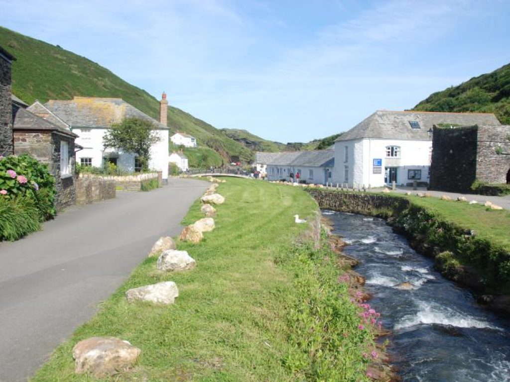 Harbour from The Old Store House Holiday Cottage Boscastle Cornwall