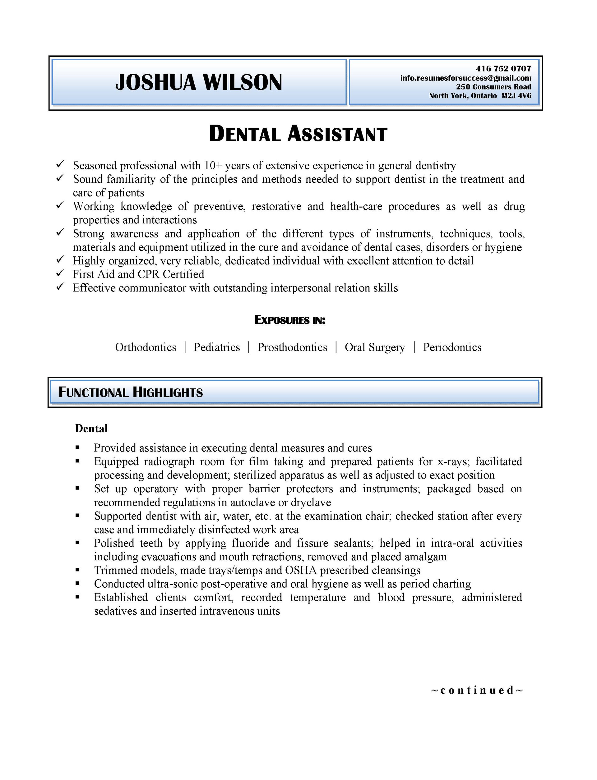 resumes for success resume formats view all