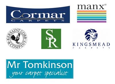 Carpet brands Cormar Carpetsm Manx Carpets, Kersanit Cobb & Company, SR Capets, Kingsmead Carpets & Mr Tomkinson Carpets