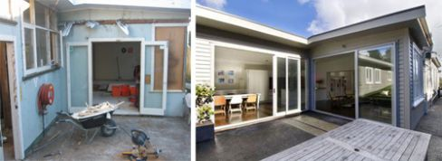 Conservatories (before and after) in Wellington