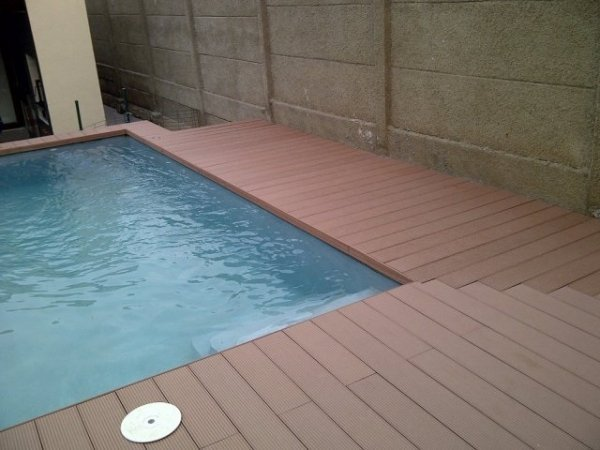 Pool area decking