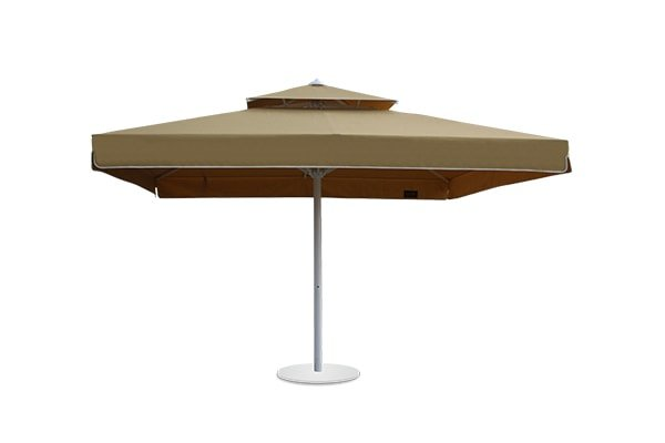 Manuel Telescopic Square Dual Roof Umbrella